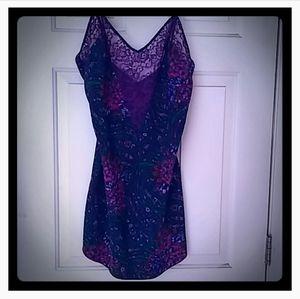 Vintage Victoria's Secret Purple Multi-floral Lace